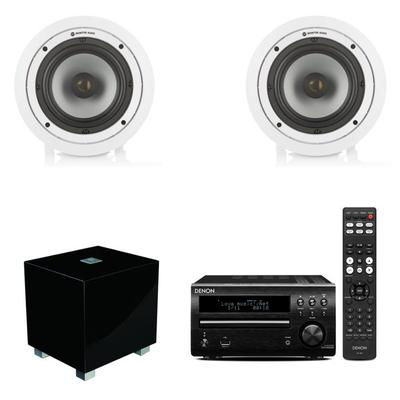 Denon Micro System Monitor Audio Ceiling Speakers An REL T-Zero