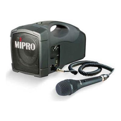 27W Portable MIPRO PA Amplifier With Wired Mic.