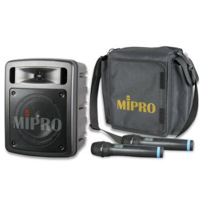 MiPro MA-303D 55W Dual Handheld Portable PA System with Case