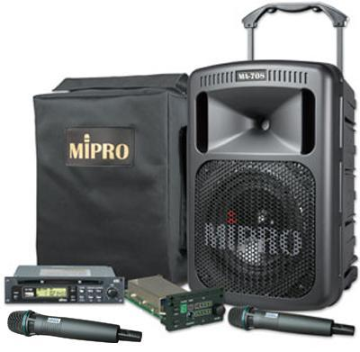 MiPro MA-708 120W Portable PA with CD  Handheld Wireless Mics