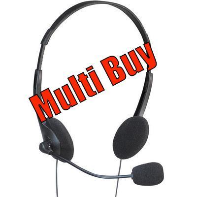 Multi Buy: 100 x Multimedia Headset With Boom Microphone