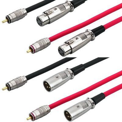 MCA-158 RCA Plug to XLR Male and Female, 3 poles 1.5m