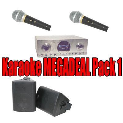Karaoke Megadeal Pack 1 - Includes Speakers Amp & Microphone