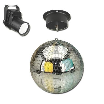 30cm Mirror Ball with Motor and LED Spot Light