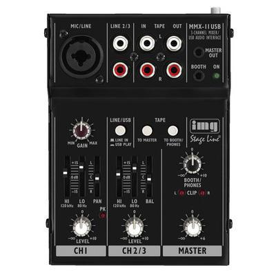 IMG Stageline MMX-11USB Micro Mixer With Duplex USB