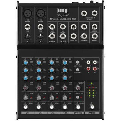 MMX-22 4-Channel Mixer with 6-Inputs