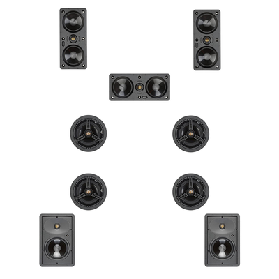 Monitor Audio 5.1.4 Ceiling Speaker Pack ATMOS Ready