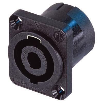 Neutrik Black Nickel NL4MP 4 Pole Male Speakon Chassis Connector