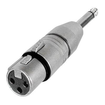 Neutrik Silver NA2FP 2 Pole XLR Female To Mono Jack Adaptor