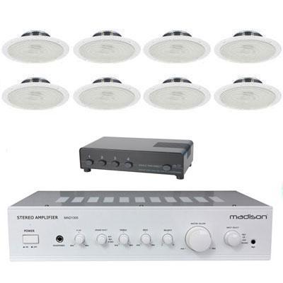 Madison Amplifier With 8 x Ceiling Speakers & Switch