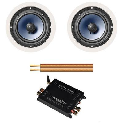 POLK RC60i (pair) with Airplay DNLA Amplifier with 25m Cable