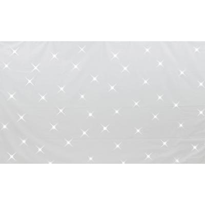 NJD Large Professional White Star Cloth Kit (3 x 2 m) with White LED's