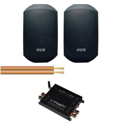 Mask 4 Outdoor speaker kit with amplifier and cable