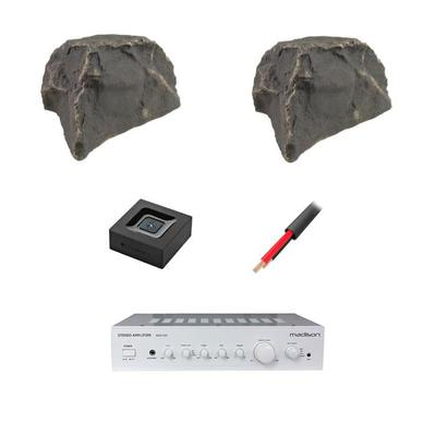 Madison Amp With 2 x Outdoor Rock Speakers And 20M Burial Cable