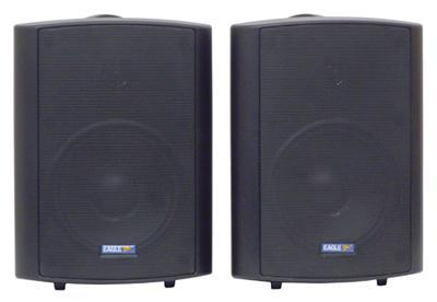 Pair of Black 100V Line 50W Background Music Speakers