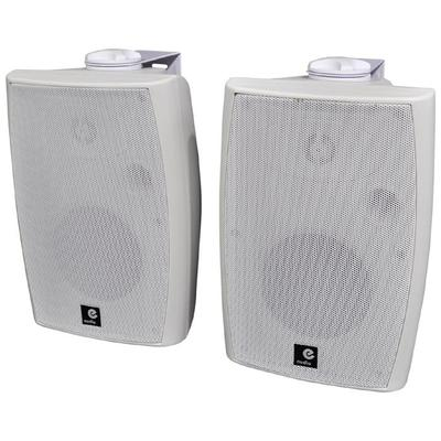 E-Audio 60w Active Wall Mounted Speakers With Bluetooth & Aux Input
