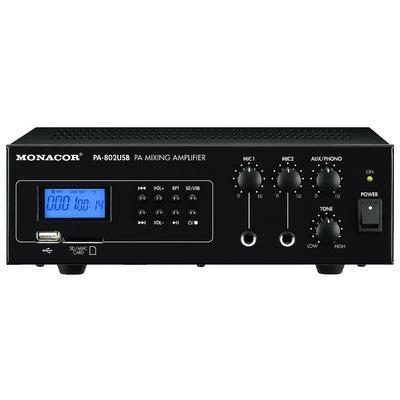 Monacor PA-802USB 15W PA Amplifier with MP3 Player