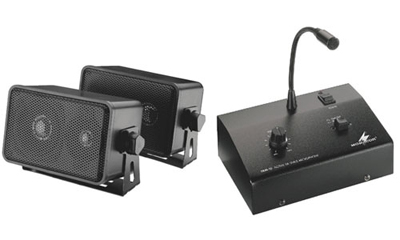 PA Intercom System With Amplified Paging Mic, & Speaker