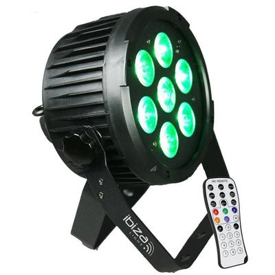 DMX-Controlled LED Par Can 7 X 12W RGBWA-UV 6-In-1