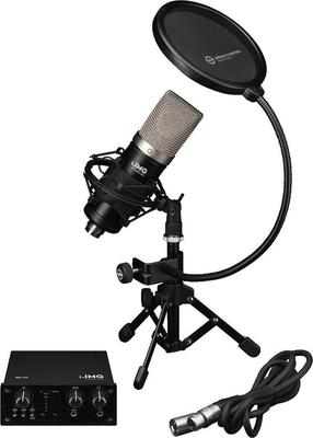 IMG Podcaster-1 with Audio Interface and Studio Microphone