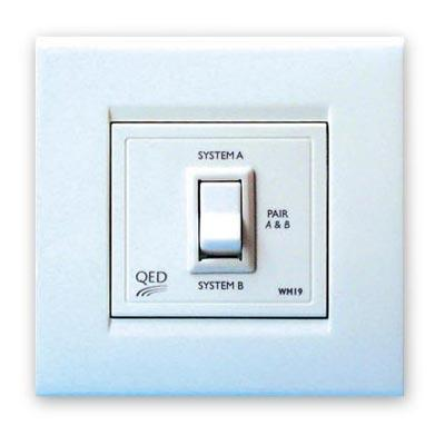 In-Wall 2 Source To Single Pair Speaker Switch