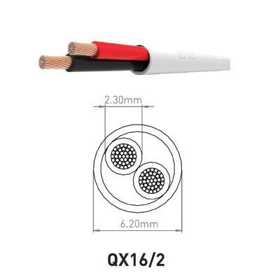 QED QX16/2 Pure Copper Flame Retardant Speaker Cable