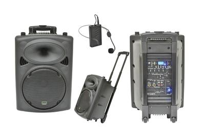Portable PA System 150W with Wireless Microphone