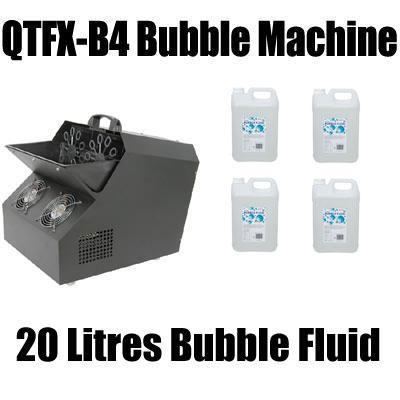 QTFX-B4 Professional Bubble Machine with 20L Fluid