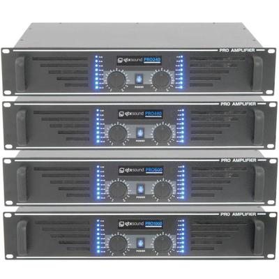 Stereo Power Amplifiers 240W, 480W, 600W & 1000W