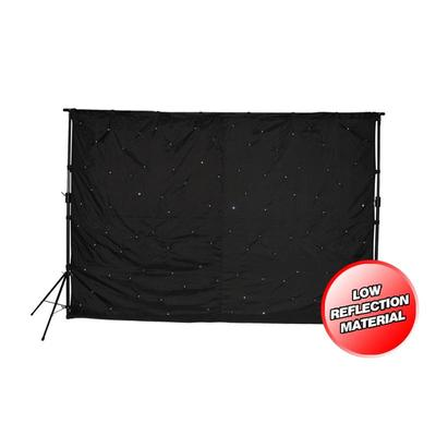 LEDJ 3M x 2M Star Cloth 100 White LED's with Stand and Bag