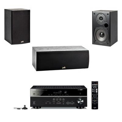 Yamaha RX-V483 5.1 Amplifier, Pair Polk Audio T15 And T30