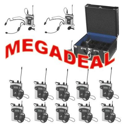 TXA-800 Tour Guide System Megadeal - 2 x Transmitters 10 Receivers and 1 x Charging Case
