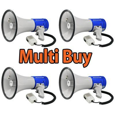 <b>Multi Buy: 3 x</b> 25W Megaphone With Siren <b>Fire Service Approved</b>