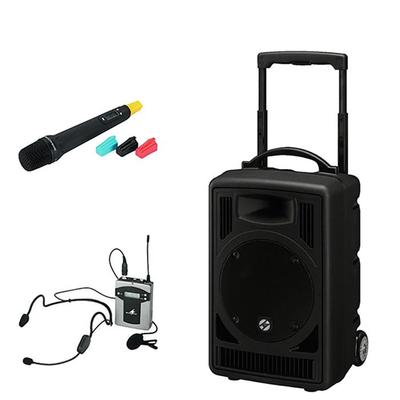 TXA-802CD 50W Twin-Wireless Portable PA System with CD, USB and Audio Link - Choice of Mics