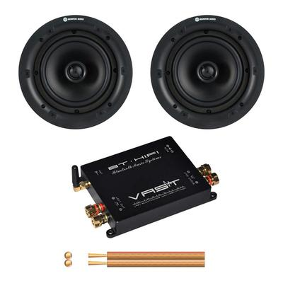 Vast Bluetooth Amplifier 2 x 45W With Pair Of Monitor Audio PRO65