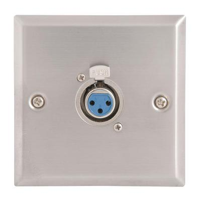 Steel Female XLR Wallplate - Single