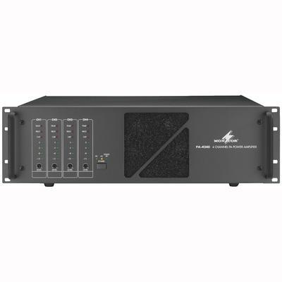 Monacor PA-4240 Power Amplifier 4 x 240w - 31V/50V/70V/100V