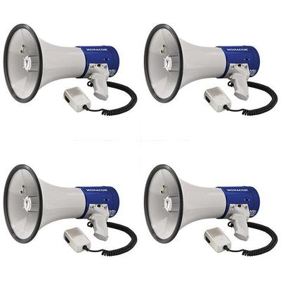 Multi Buy: 4 x 25W Megaphone With Siren Fire Service Approved
