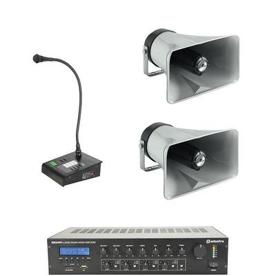 2-Zone Forecourt PA System with Zoned Paging
