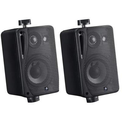"E-Audio 3-Way Wall Mounted Box Speaker 5.25"" - Pair"