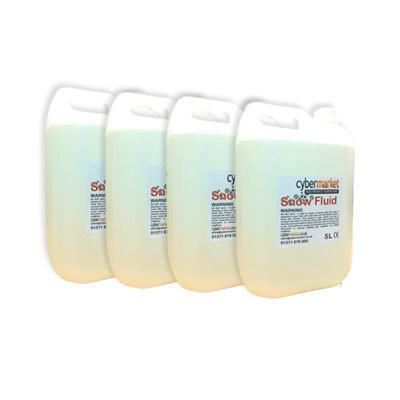 4 Pack Of 5 Litre Snow Fluid. Cybermarket Special.