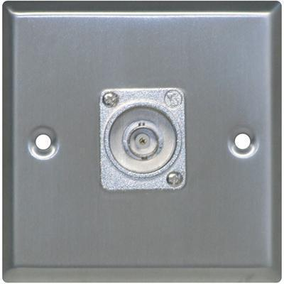 Silver Metal AV Wall Plate with BNC Socket