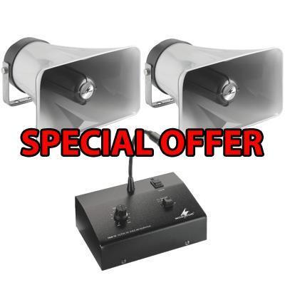 Forecourt Pa System Package Weatherproof Horn Speakers