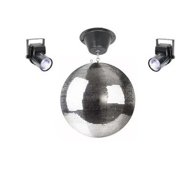 Professional 40cm Mirrorball 5x5mm With 2 X Lights And Motor