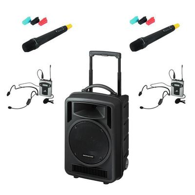 TXA1020 Quad Portable PA with 2 x Hand Held 2 x Headband or Tie-Clip Mics