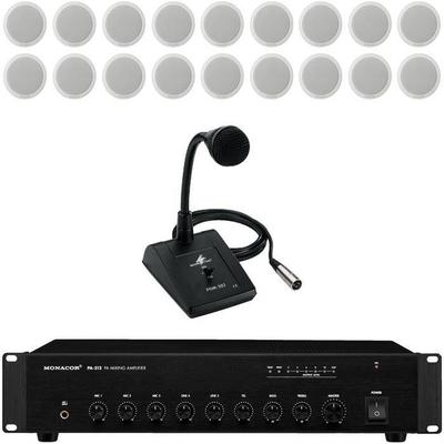 120W Amplifier 18 x Ceiling Speakers & Paging Microphone
