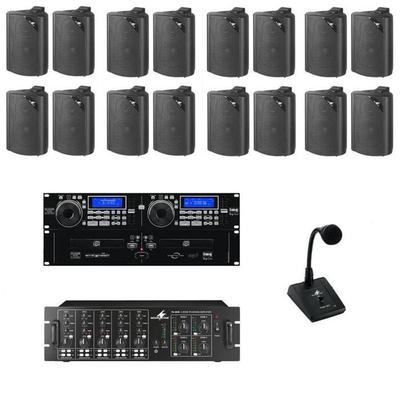 4-Zone 5-Source PA Package With Dual CD MP3 And Paging Mic