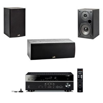 Yamaha RX-V485 5.1 Amplifier, Pair Polk Audio T15 And T30