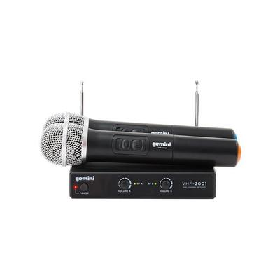 gemini vhf 02m dual channel wireless microphone system. Black Bedroom Furniture Sets. Home Design Ideas