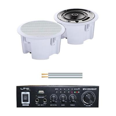 Lotronic Amplifier With Microphone Input & 2 Ceiling Speakers